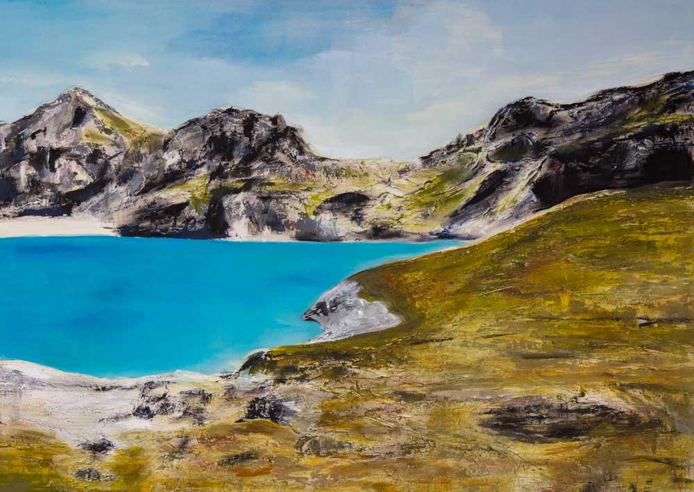Bettina Lock Malerei Alpen I
