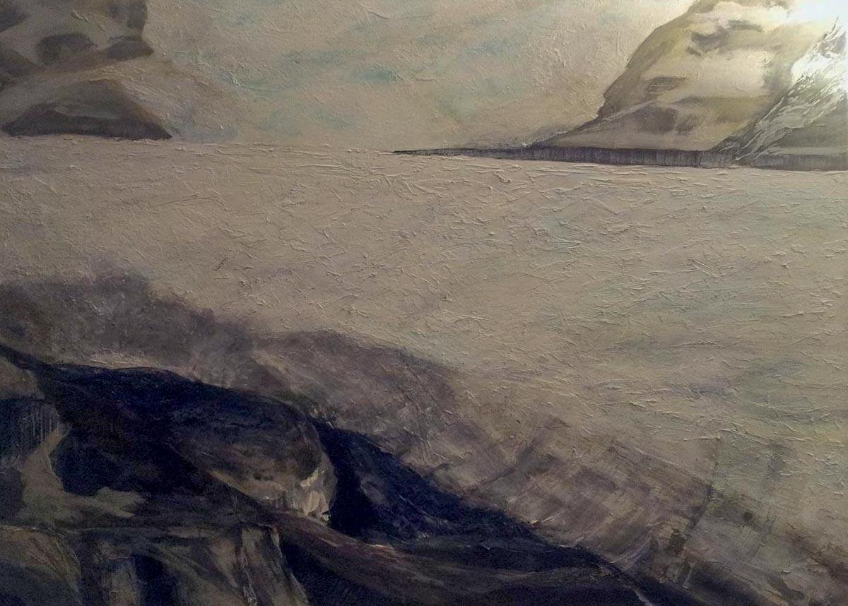 Bettina Lock Vatnajoekull III Kunst Atelier Bonn