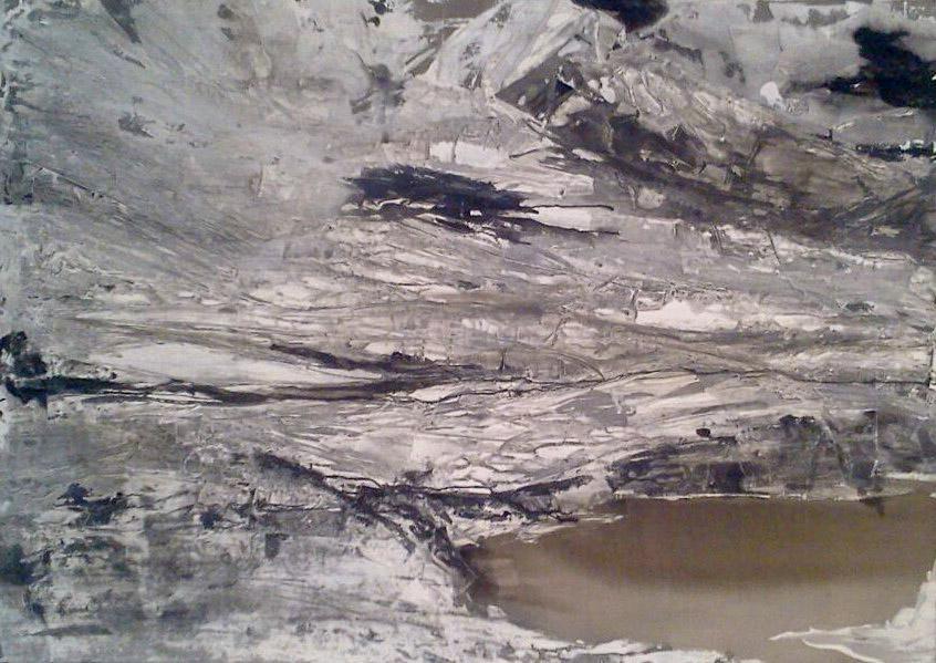 Bettina Lock Vatnajoekull X Malerei